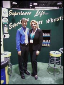 Dr. Ward Bond and Sweet Wheat Inc. Founder Kim Bright @ Expo West